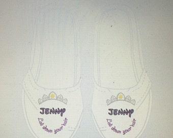Rapunzel tiara toms, rapunzel shoes, rapunzel phrase shoes, rapunzel toms, disney toms