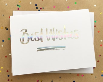 Best Wishes Greeting Card | Foiled
