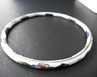 White Cloissone Asian Bracelet