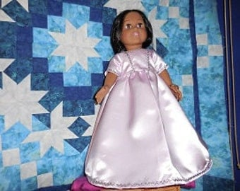 """American Girl and 18"""" doll satin gown"""