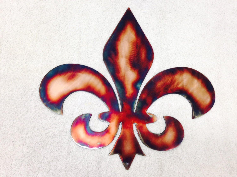 metal wall art plasma cut fleur de lis home decor. Black Bedroom Furniture Sets. Home Design Ideas