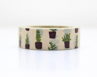 30 Succulent Washi tape -floral washi- craft supplies- card making- party supplies- planner washi - weddings -stickers