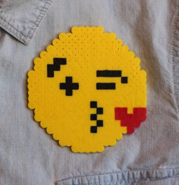 Items Similar To Pixelated 8 Bit Blow A Kiss Emoji On Etsy