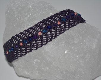 glass beaded woven bracelet