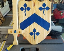 Kid's Wooden Sword and Shield