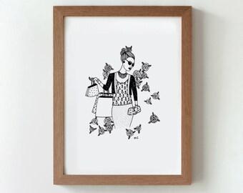 "Original illustration - ""Shopping"""