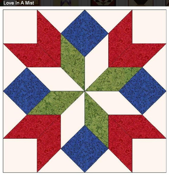 Light weight easy to install love in a mist barn quilt with
