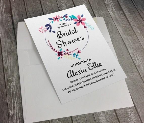 items similar to bridal shower invitation template diy. Black Bedroom Furniture Sets. Home Design Ideas