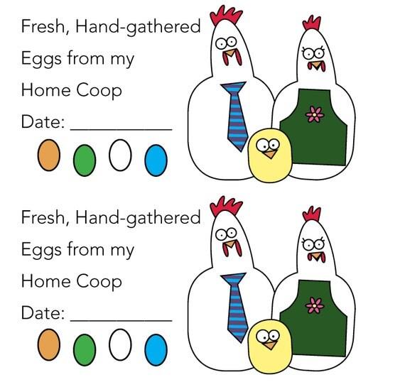 egg carton labels template - pre designed 2x4 chicken and egg egg carton
