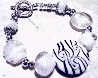 Gorgeous White Glasswork Bracelet