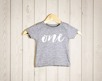 ONE Toddler T-shirts, Baby Shower Gift, Gift for Newborn Baby, Gift for Toddler