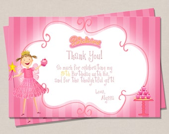 Pinkalicious Inspired Thank You Card