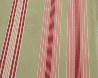 Oilcloth Fabric, PVC Coated, Candy Stripes, Per Meter