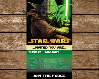 Star Wars Invitation, Star Wars Party Invitation, Galaxy wars Birthday Party Invitation, Star Wars Party Printable,FREE card THANK YOU | M47
