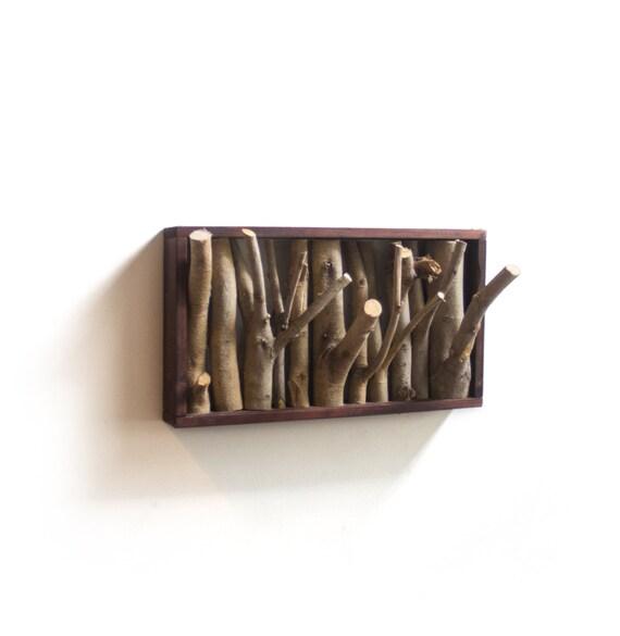 tree branch coat rack rustic wall hooks wood hook tree. Black Bedroom Furniture Sets. Home Design Ideas