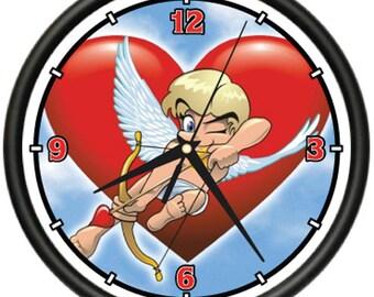 Valentine's Day Cupid Wall Clock Valentines Gift Love