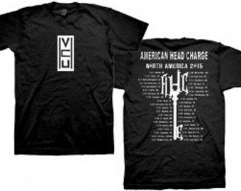 "American Head Charge ""Trep 3 2015 Tour"" T-Shirt Size Medium"