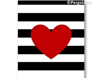 Printable Art // Love Art Print // Instant Download Art // Digital Download Art Print // Love Home Decor // Heart Art Print // Office Decor