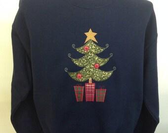 Christmas Tree Applique Sweatshirt