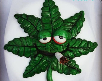 Smoking Cannabis 3D Edible cake topper