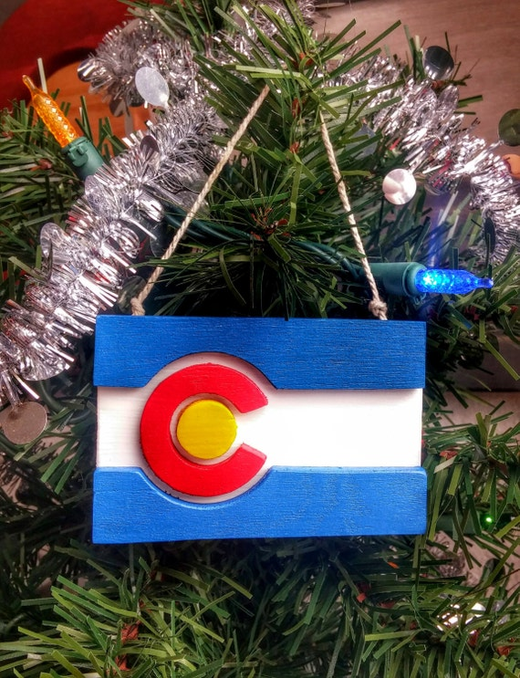 Colorado flag holiday ornaments by indianpeaksarts on etsy
