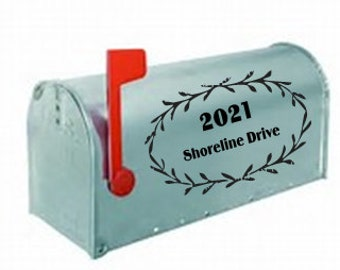 Laurel Wreath Number and Address For Mailbox, Mailbox Decals, Mailbox Decals
