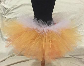 candy corn tutu / halloween / orange and white tutu