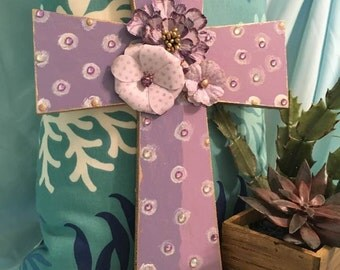 Lavender/white cross