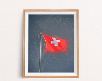 Swiss Flag, Switzerland Poster, Switzerland Print, Switzerland Wall Art, Switzerland Decor, Switzerland, INSTANT DOWNLOAD, A3, 8x10