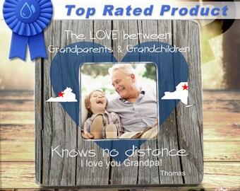Long Distance Grandparents and Grandchildren States Personalized Frame Grandparents Frame Grandparents Gift Grandchildren Gift Picture Frame
