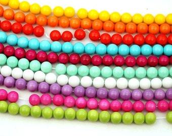 100 St. 10 mm glass beads / mix