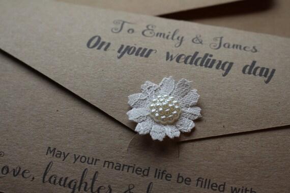 Personalised Wedding Gift Envelopes : Personalised Wedding Money Gift Wallet with envelope