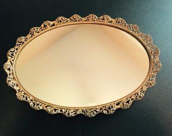 Antique Brass Vanity Mirror
