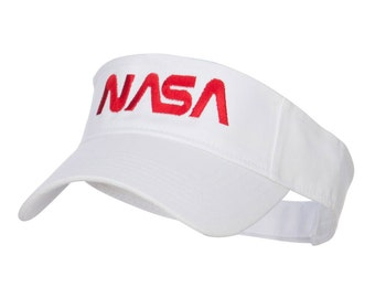 NASA Letter Logo Embroidered Sun Visor