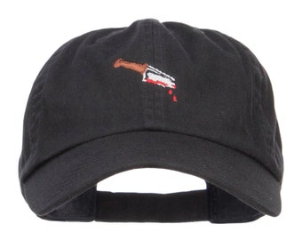 Bloody Knife Embroidered Dyed Cap