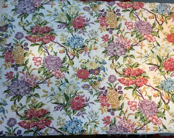 Mid 20th C english linen floral print