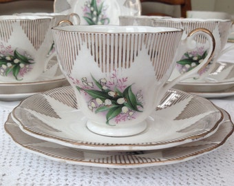 Utterly Lovely Lily of the Valley Vintage Teaset, Perfect for a Vintage Wedding