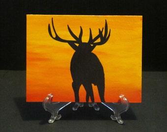 Majestic Elk in sunset - Art Card