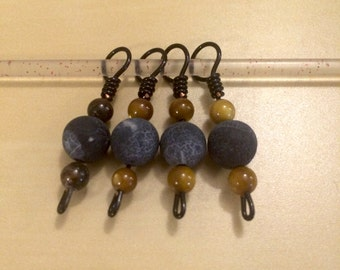 Wire and bead stitch markers