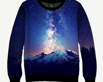 Milky Way - Men's Women's Sweatshirt   Sweater - XS, S, M, L, XL, 2XL, 3XL, 4XL, 5XL