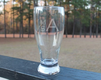 Initial Etched Glass
