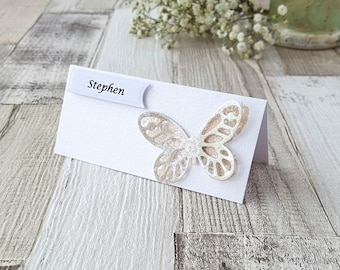 Wedding Name Cards - Butterfly Place Cards - Copper Wedding - Butterfly Wedding - Place cards - Wedding Place Cards - Name Cards