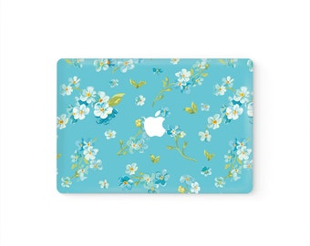 MacBook Cover MacBook Decal MacBook Skin Top Front Lid MacBook Sticker Air/Pro/Retina Touch Bar 11 12 13 15 17 inch | White Flowers