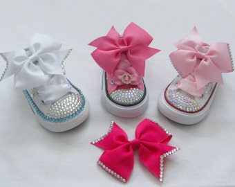 Custom Crystal Hair and / or Shoe Clip bows. Various Options Available