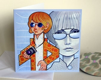 Blow Up - A Greetings Card. Celebration.