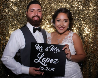 CUSTOM - DOUBLE-SIDED Mr and Mrs Sign
