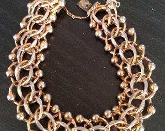 Vintage Monet gold tone 3 chain Bracelet