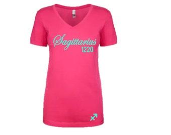 Women's Zodiac Horoscope Personalized  Sagittarius T-Shirt/Tee