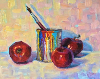 Colorful Still Life Handpainted Oil Painting Wall Art