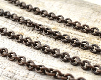 Rustic Chain, Thick Brass Chain, Antiqued Chain, Distressed Chain, Aged Chain, Brown Chain  BR-CHAIN-01
